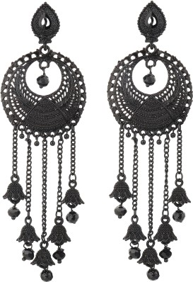 Subharpit Double Designer Hanging Traditional Metal Jhumki Earring for Woman /& Girls