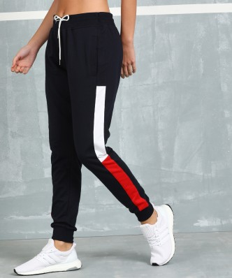 Summer Sale Women/'s Jogger Pants Solid Woven Drawstring Loose Coral Navy S USA