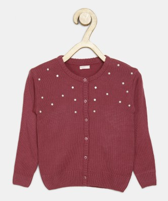 FASHIONCHIC Kids Girls Plain Open Boyfriend Cardigan Long Sleeves Fashion Top Age 5-6,7-8,9-10,11-12,13 Years