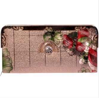 Womens Stitched Clutch Wallet PP-1000 Red