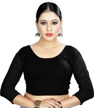 Designer Saree Blouse,Readymade Sari Blouse,Velvet Party Wear 3//4 Sleeves Blouse