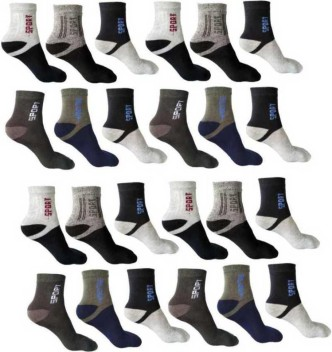 Mens White Ankle Sport Socks Medium Weight  USA Made Free Ship 12 Pairs Womens