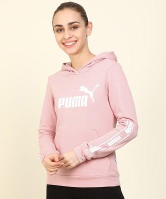 Purple Ladies Women/'s New Puma Hooded Sweater Hoodie Jumper Pullover Zip Hoody