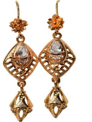 Maayra Wedding Festival Earrings Copper Dangler Drop Maroon Green Hanging Indian Ethnic Jewellery