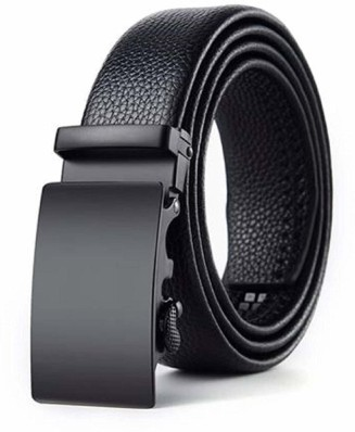 "Dress /& Casual belt.Fashion belt up 50/"" Automatic lock Real Leather Men's Belt"