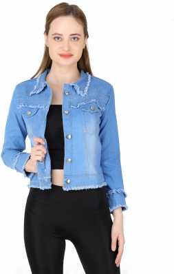 Girls Dark Blue Wash Western Style Denim Jacket Coat Teens Sizes from 6 to 15 Years