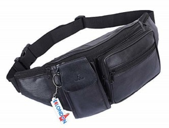 Red Double Guns Sport Waist Bag Fanny Pack Adjustable For Hike