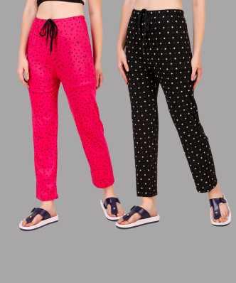 Ladies Size 12 Pyjamas Poly // Cotton Jersey 3 Styles Full Length Trouser