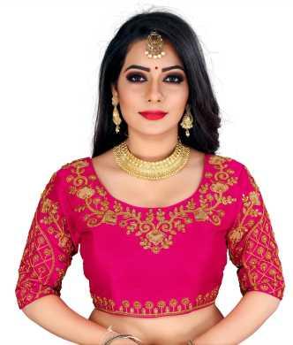 Choli Designs Saree Top for women Sari Top Pink Saree Blouse Maggam Work saree blouse Designer Saree Blouse with beautiful embroidery