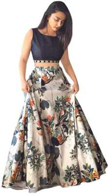 f4762ec5231875 Crop Top with Lehenga - Buy Crop Top Lehengas online at best prices ...