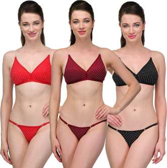 f792bf6e3d 100 Cotton Lingerie Sets - Buy 100 Cotton Lingerie Sets Online at Best  Prices In India