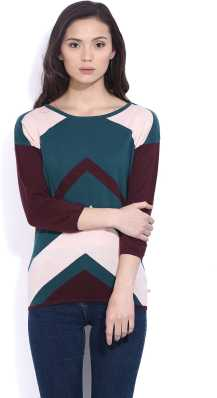 dc4ce7828c 2. United Colors of Benetton. Solid Round Neck Casual Women Green sweater ·  ₹844