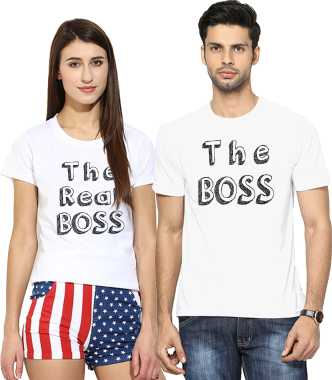 0cea98213f Couple T Shirts - Buy Couple T Shirts online at Best Prices in India ...