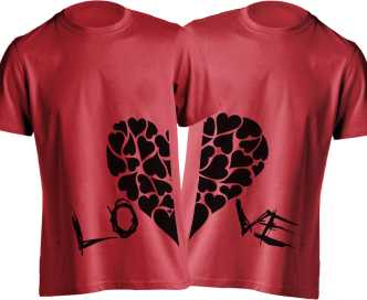 c60610d83f431 Couple T Shirts - Buy Couple T Shirts online at Best Prices in India ...
