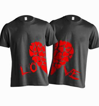 7ed3b32b89 Couple T Shirts - Buy Couple T Shirts online at Best Prices in India ...