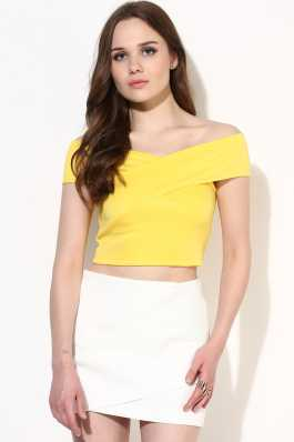 5346775ca56684 Yellow Tops - Buy Summer Yellow Tops Online at Best Prices In India ...