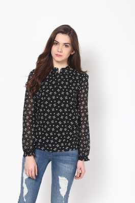b2b82a6027ec0 Black Tops - Buy Black Tops Online at Best Prices In India ...