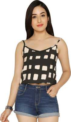 61b3bae0c45ad Crop Tops - Buy Crop Tops Online at Best Prices In India