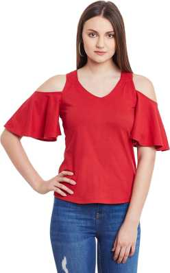 5882b1f9148e80 Cold Shoulder Tops - Buy Cut Out Shoulder Tops Online at Best Prices ...