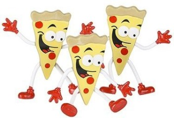 Bendable Pizza Guy Pack of 12 DOMAGRON
