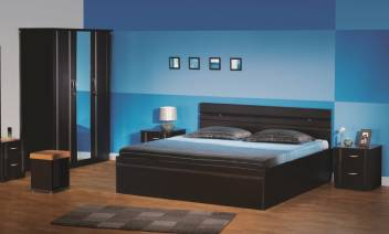 Godrej Interio Engineered Wood Bed + Side Table + Dressing Table