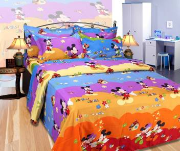 Mickey Mouse Cotton Double Cartoon Bedsheet Buy Mickey Mouse Cotton Double Cartoon Bedsheet Online At Best Price In India Flipkart Com