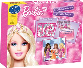 Barbie A Fashion Designer Educational Games Board Game A Fashion Designer Buy Barbie Toys In India Shop For Barbie Products In India Toys For 3 8 Years Kids Flipkart Com