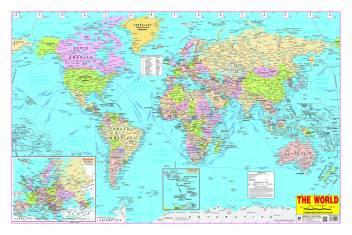 English Map Of The World.World Map