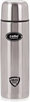 Cello Flip Style 1000 Ml Flask  (Pack Of 1, Silver)