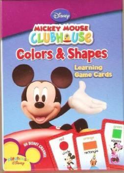Disney Mickey Mouse Colors Shapes Learning Game Flash Cards Mickey Mouse Colors Shapes Learning Game Flash Cards Shop For Disney Products In India Flipkart Com