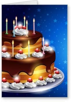 Astonishing Lolprint Birthday Cake Greeting Card Price In India Buy Lolprint Personalised Birthday Cards Veneteletsinfo