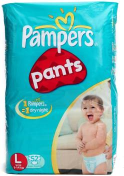 9c052756fb Pampers Pants Diaper Large Size - Buy 52 Pampers Cotton-like Outer ...