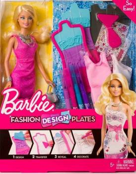 Barbie Fashion Design Plates Barbie Doll Fashion Design Plates Barbie Doll Buy Barbie Toys In India Shop For Barbie Products In India Toys For 3 6 Years Kids Flipkart Com