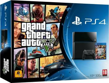 Sony PlayStation 4 (PS4) 500 GB with GTA 5 Bundle