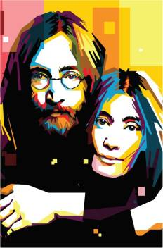 John Lennon With Yoko Ono Illustration Art Poster Paper Print Music Posters In India Buy Art Film Design Movie Music Nature And Educational Paintings Wallpapers At Flipkart Com