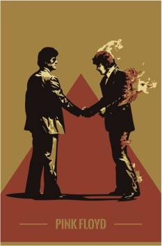 Pink Floyd Wish You Were Here Graphic Art Poster Paper Print