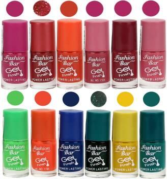 Fashion Bar Gel Finish Nail Polish Pack Of 12 Multicolour Price In India Buy Fashion Bar Gel Finish Nail Polish Pack Of 12 Multicolour Online In India Reviews Ratings Features Flipkart Com