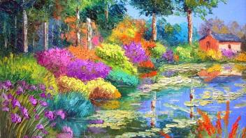 Nature Pong With Beautiful Flowers Park Hd Wallpaper On Art Paper Fine Art Print Art Paintings Posters In India Buy Art Film Design Movie Music Nature And Educational Paintings Wallpapers