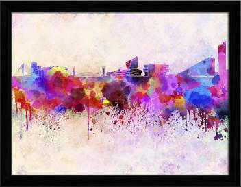 Artzfolio Manchester Skyline England Uk Framed Wall Art