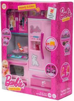 Pink Barbie Modern Kitchen Set