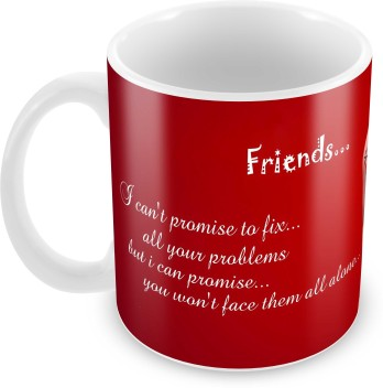 tuelip printed friends quotes design on finger for tea and coffee