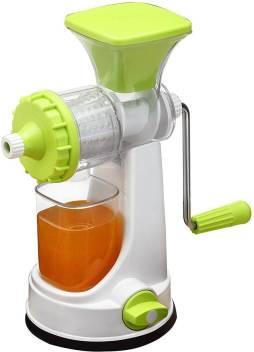 ShopyBucket 4 Fruit & Vegetable Clear Barrel Juicer Fruit & Vegetable Juicer | Manual Hand Juicer | Fruit Juicer Stainless Steel Handel Vacuum Base