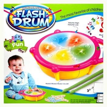 Kids Fun Gift Drum Set Children Boys Musical Activity Toys Music Playset Rocker