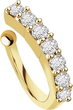 Chandrika Pearls Crystal Gold Plated Plated Copper Nose Ring Price
