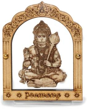 Premang Hanuman Ji Statue Enclosed In Transparent Acrylic