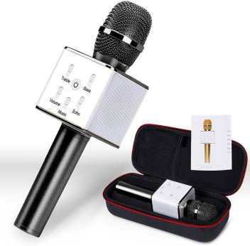 VibeX ® Portable Wireless Microphone with Speaker Mic Machine for Singing  and Recording with Built-in Bluetooth Speakers and AUX Microphone