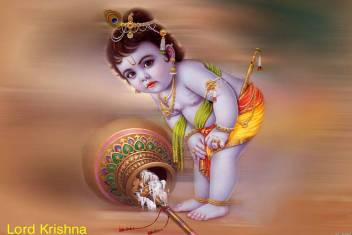 medium aabhaas wall poster lord krishna little krishna original
