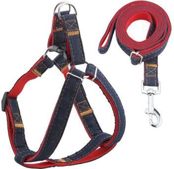 Skora Dog Leash Harness Adjustable & Durable Leash Set & Heavy Duty Denim Dog  Leash Collar for Large Dog, Perfect for Daily Training Walking Running Dog  Harness & Leash Price in India -