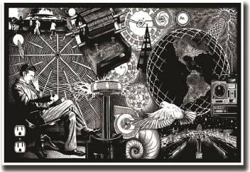Nikola Tesla Electricity Arton Fine Art Paper 13x19 Fine Art