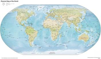 World Map Peel and Stick Wall Poster ( 24 X 36 Inch) Paper Print